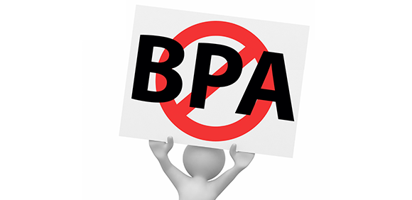 a chemical called bisphenol a A chemical called bisphenol a -- bpa -- used in plastic packaging and in the linings of food and beverage cans, may be passed from a mother to her offspring during pregnancy and cause changes in the gut bacteria of the offspring, according to an international team of researchers.